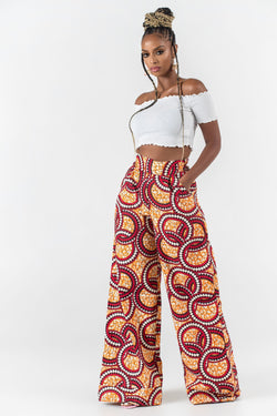 Grass-Fields Trousers African Print Monass Pants