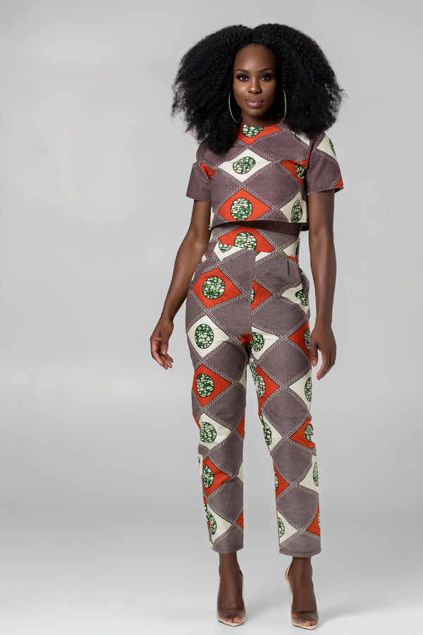 Grass-Fields Trousers African Print Nuria Pants