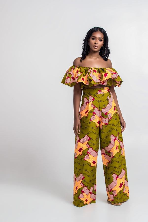 Grass-Fields Trousers African Print Salome Pants