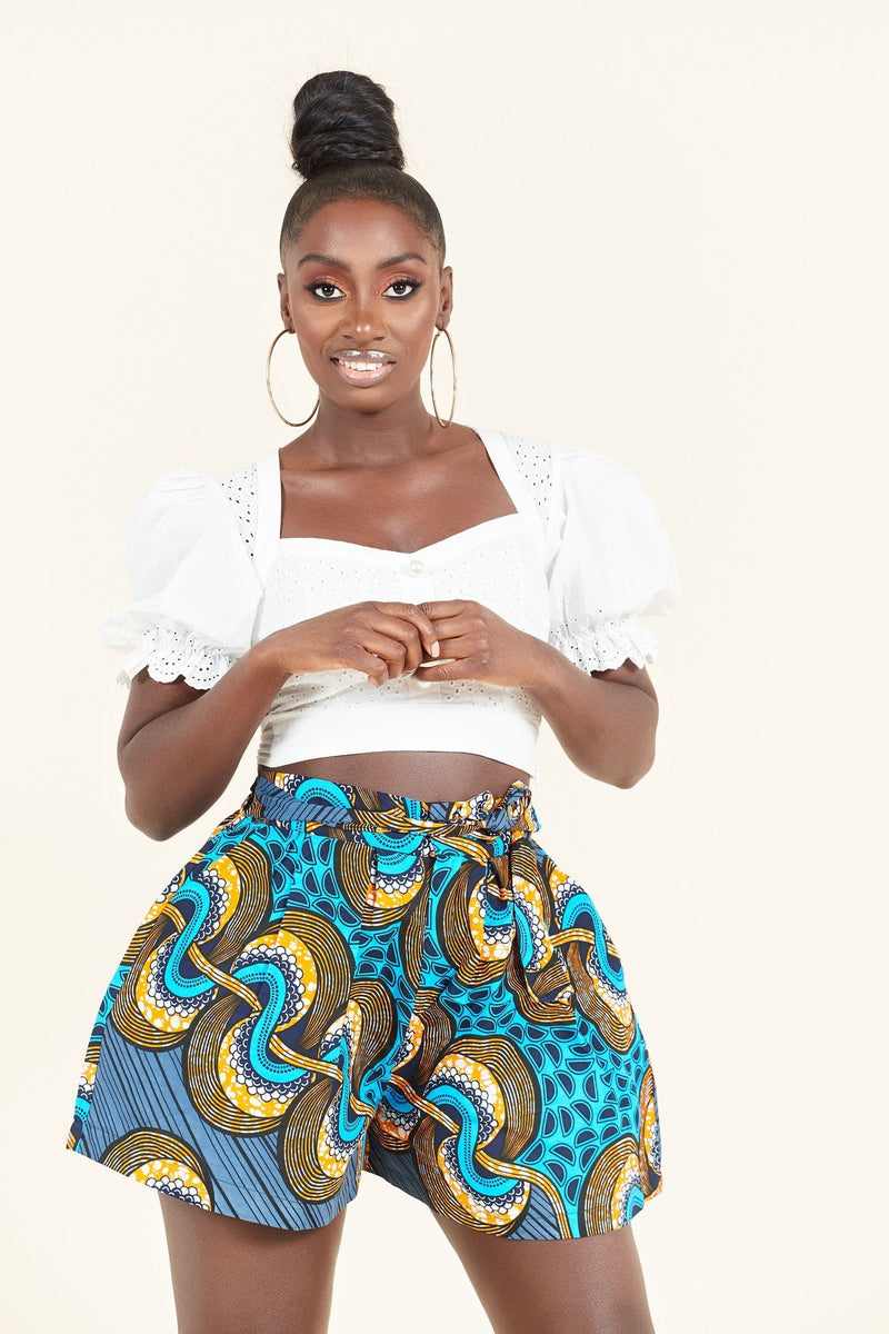 African Print Tete Shorts