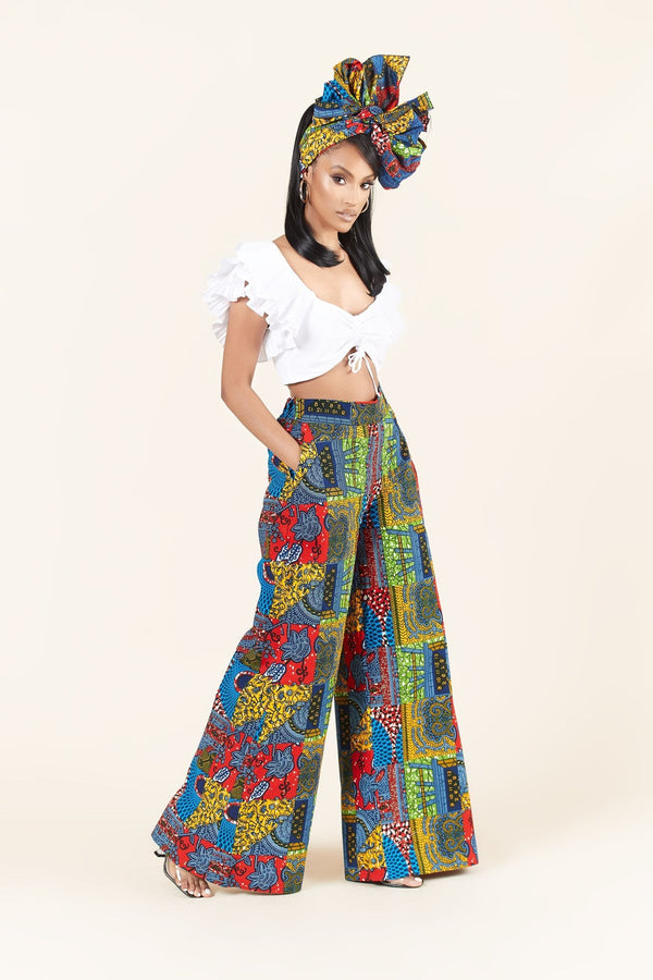 Grass-Fields Trousers African Print Vane Pants