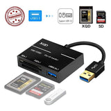 USB 3.0 to XQD/SD Card High Speed Card Reader USB3.0 HUB