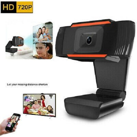 720P Camera for Laptop Desktop Web cam Build in Microphone