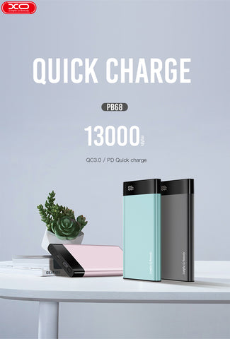 XO PB68 Power Bank 13000mAh