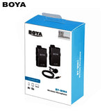 BOYA BY-WM4 PRO-K1 (2.4GHz Dual-Channel Wireless Lavalier Microphone kit 1TX+1RX)