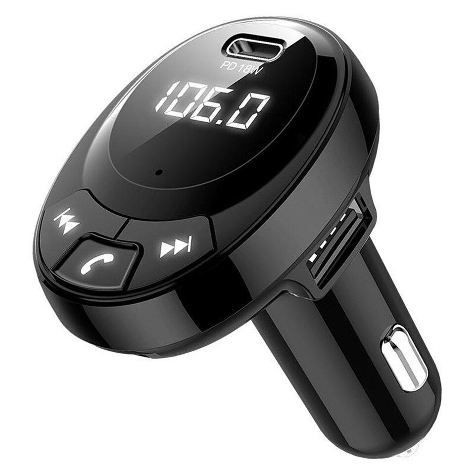 Wireless FM Transmitter MP3 Player with USB with PD 18W Charger