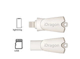 Metal iDragon 2 in 1 USB Card Reader for iPhone and iPad