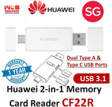 HUAWEI Type C Dual Port 2 in 1 Memory Card Reader Multi-Function NM Nano Reader
