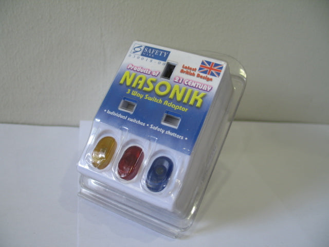 Nasonik 3 Way Switch Multiplug Power Adapter