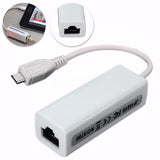 Micro-USB 2.0 5P to RJ45 Network Lan Ethernet Converter