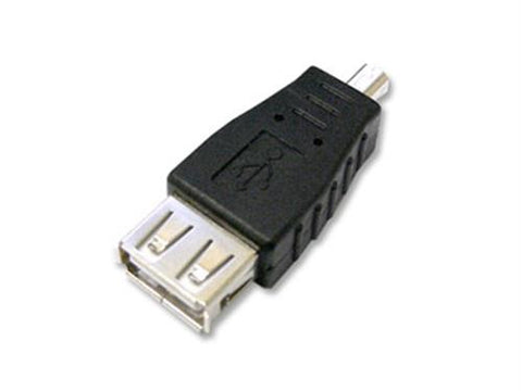 USB Adapter - USB A Female to USB B Male 4 Pin Mini