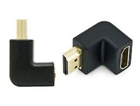 Right Angle HDMI Standard Male To Female Adapter