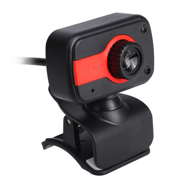 USB 2.0 HD Camera Web Cam Clip-on Base with Microphone for Computer Desktop PC Laptop Skype