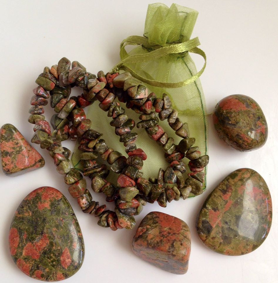 🌺🌿 Unakite Tumbled Crystals 🌺🌿