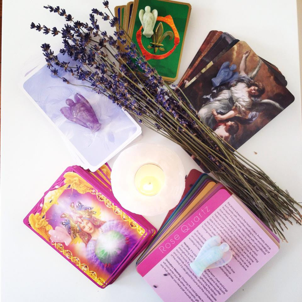 Angel Card Reading 5 Mixed Cards Including The Crystal