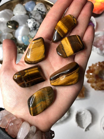 Golden Tigers Eye Crystals 💰🐅👁 💛