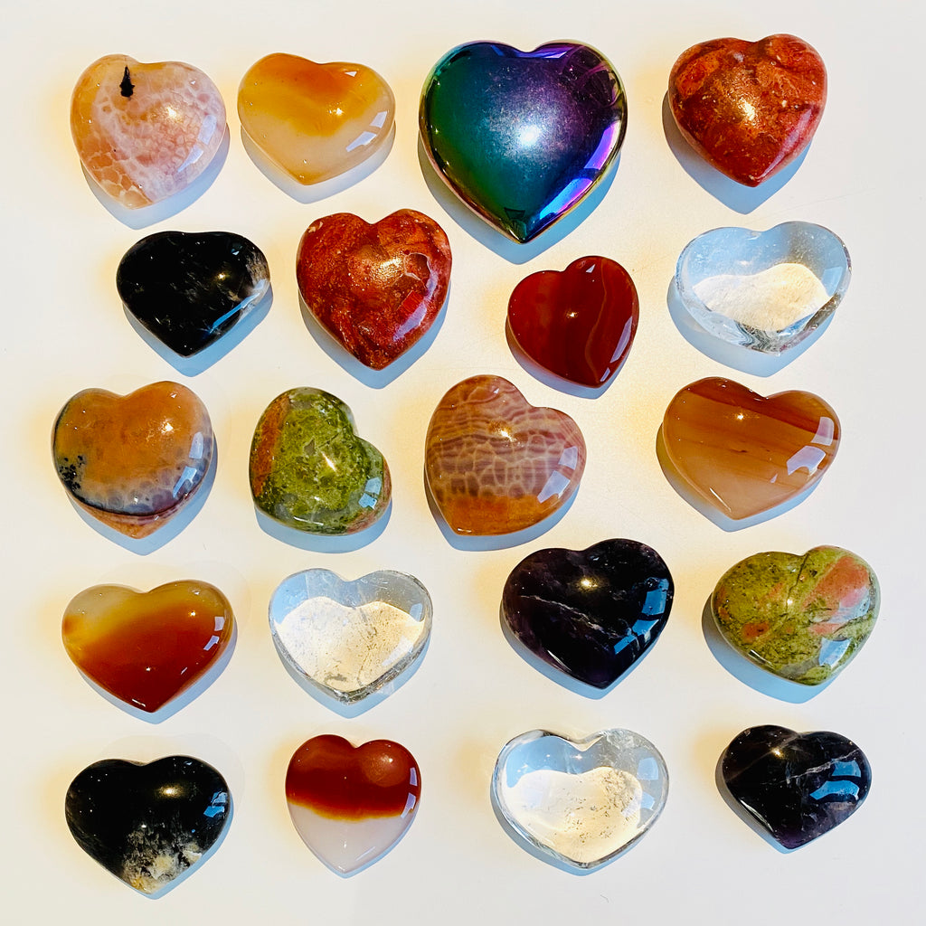 NEW Crystal Love Hearts ❤️💜🧡💕💚❤️
