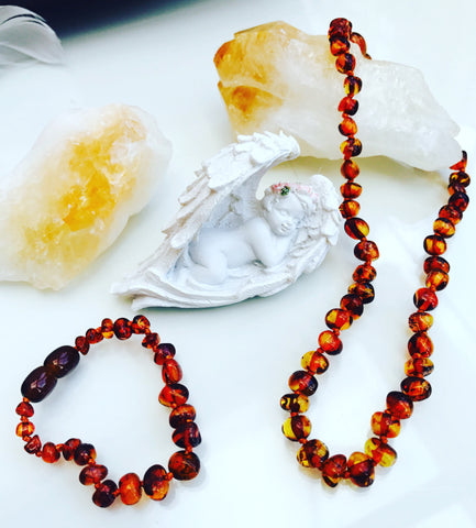 Amber Teething Necklaces & Bracelets 💛