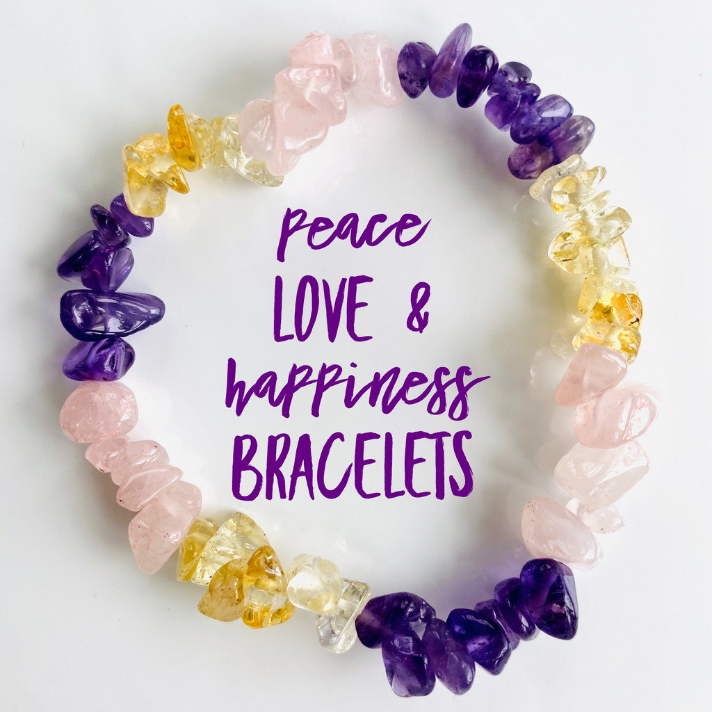 NEW Peace ☮️ Love 💓 & Happiness 🥰 Bracelets
