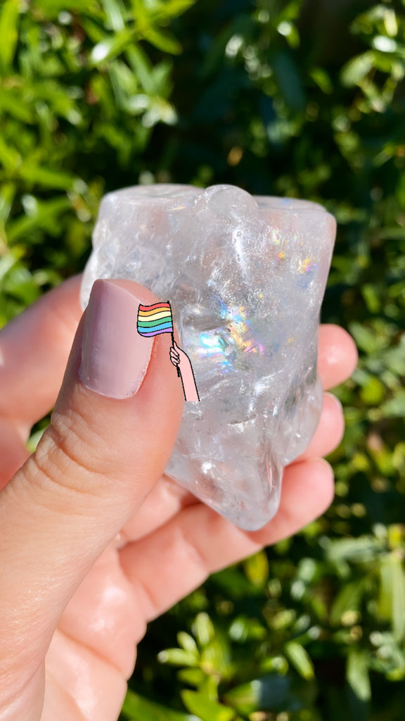 Semi Tumbled Clear Quartz Rainbow Rocks!!!! 🌈👑💥🤩💜