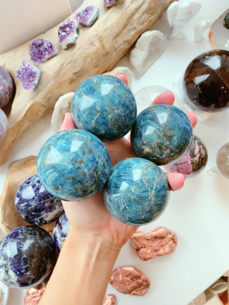 Apatite Beautiful Spheres 💙🔵💞🔵💙
