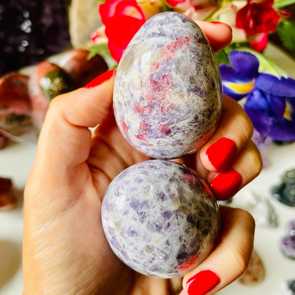 Pink Tourmaline with Lepidolite Eggs🐣🥚🤩💓💕💓