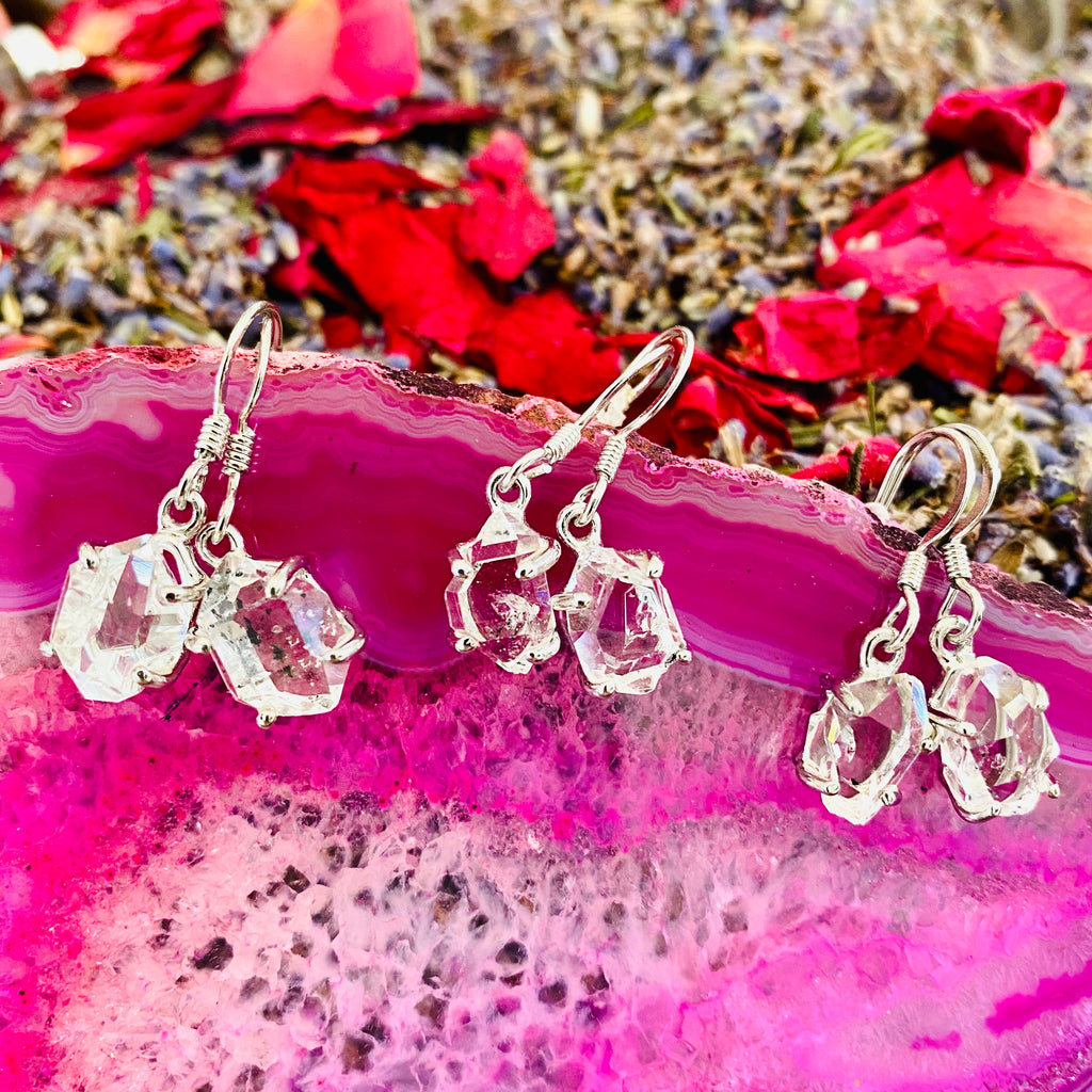 Herkimer Diamond Earrings (Solid Silver) 🤲🏼💎