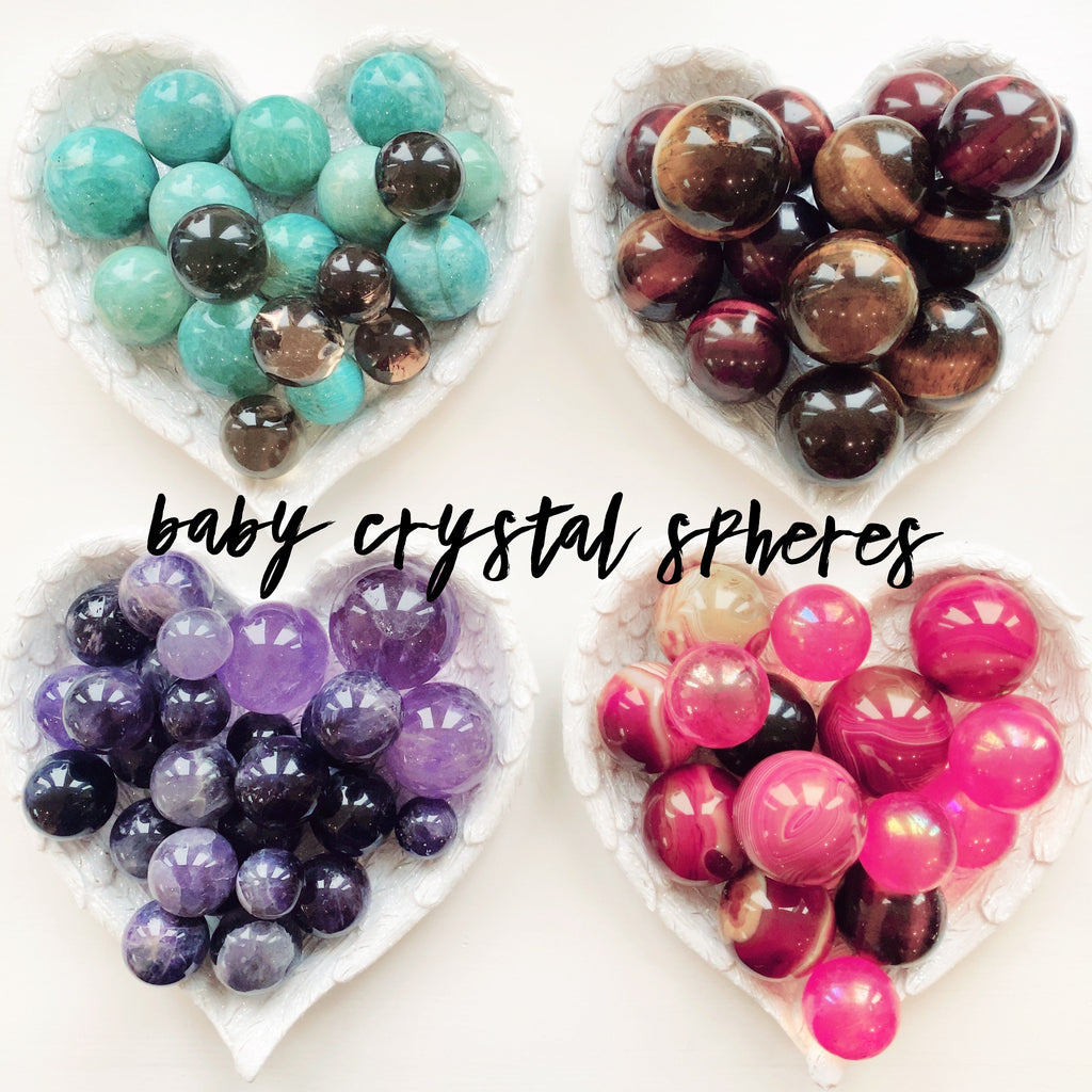 Live Leftovers ~ Baby Crystal Spheres 🟣🟢🔵🟡🔴❤️💞🤩💜🟣