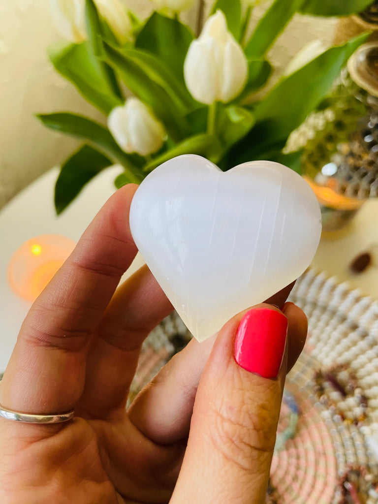 Adorable Selenite Hearts 🤍👼🏼💖