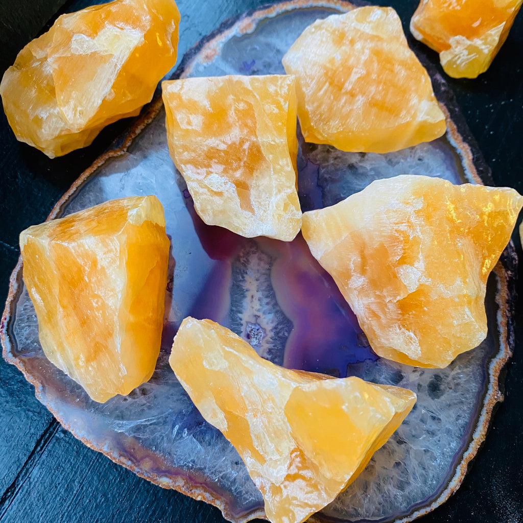 Orange Calcite Crystals 🍊