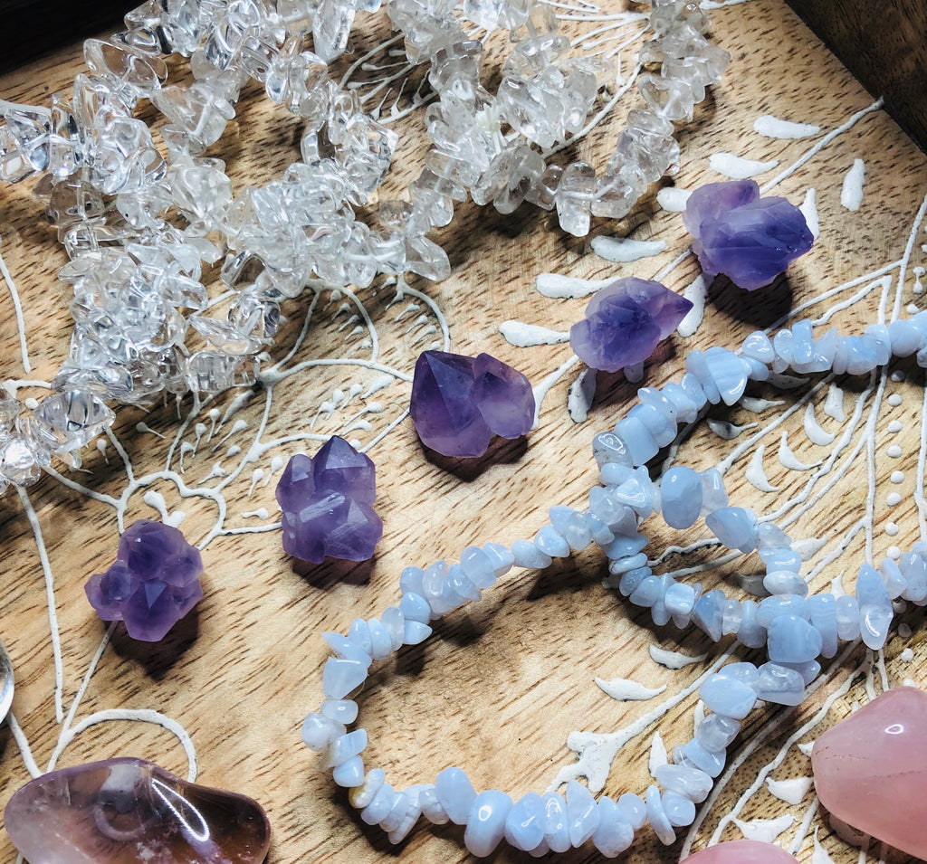 The Cutest Amethyst Clusters 🔮💞🥰💎