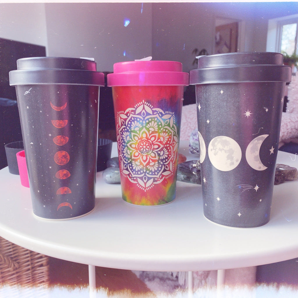 Spiritual Travel Mugs 🥰☕️🧘🏼‍♀️🌈😘💕🌘🌑🌒❤️🥰😘💕