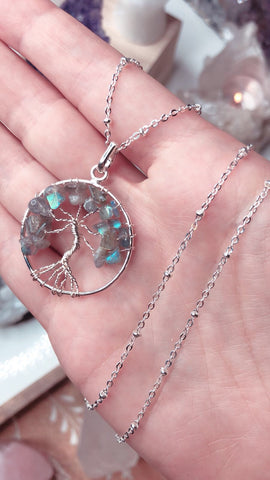 Labradorite Tree of Life Pendant 🌳🔮💎📿