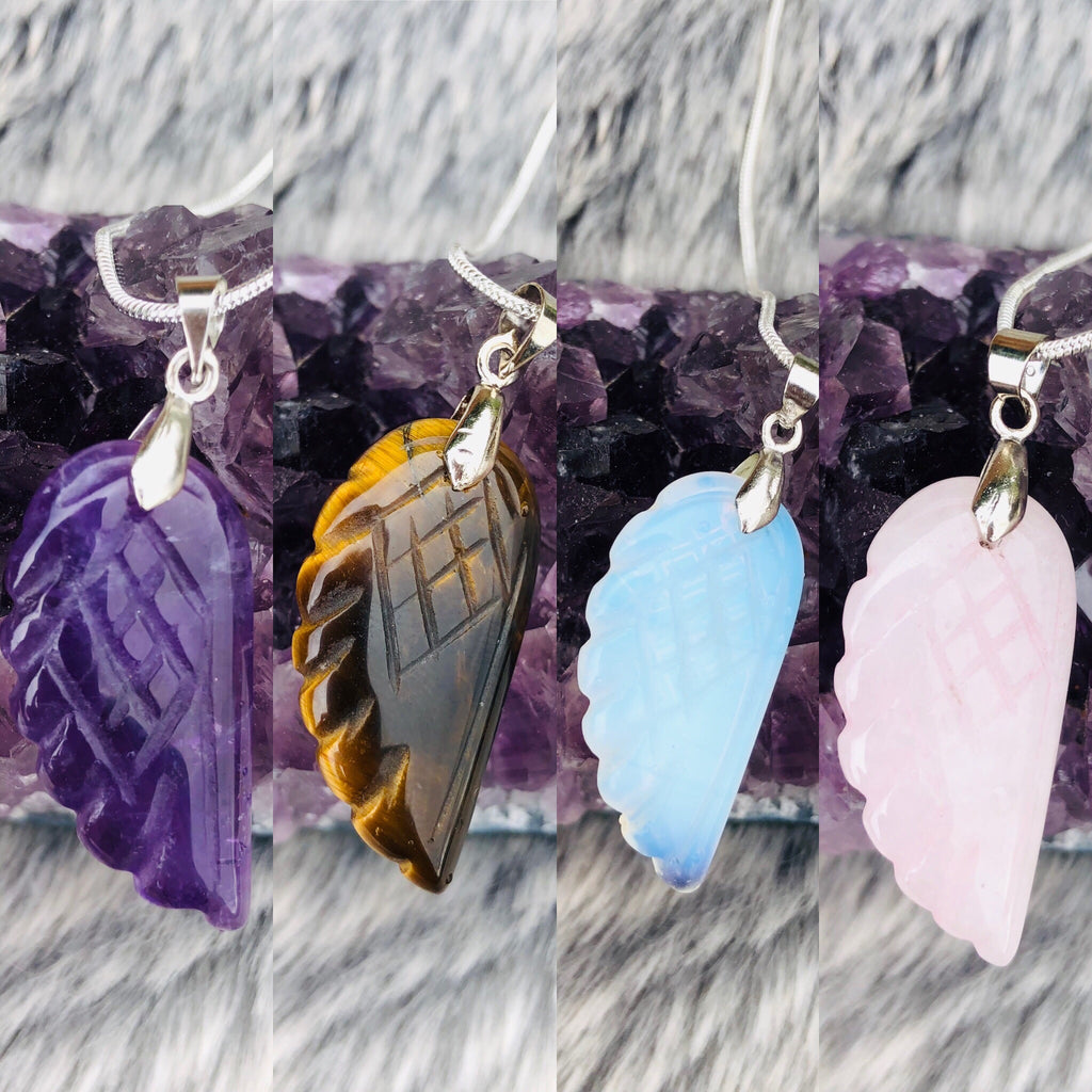 Angel Wing Crystal Pendants 💕💎👼🏼❤️🔮🥰