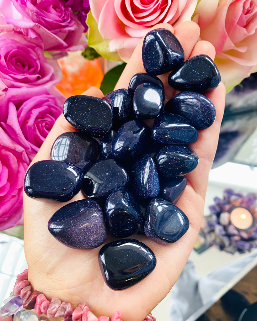 Blue Goldstone Crystals 💎🔮💙