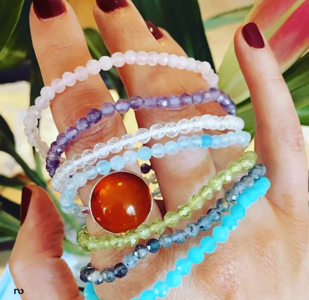 New Crystal Faceted Bracelets 💞💕💜👼🏼💞💕🤩