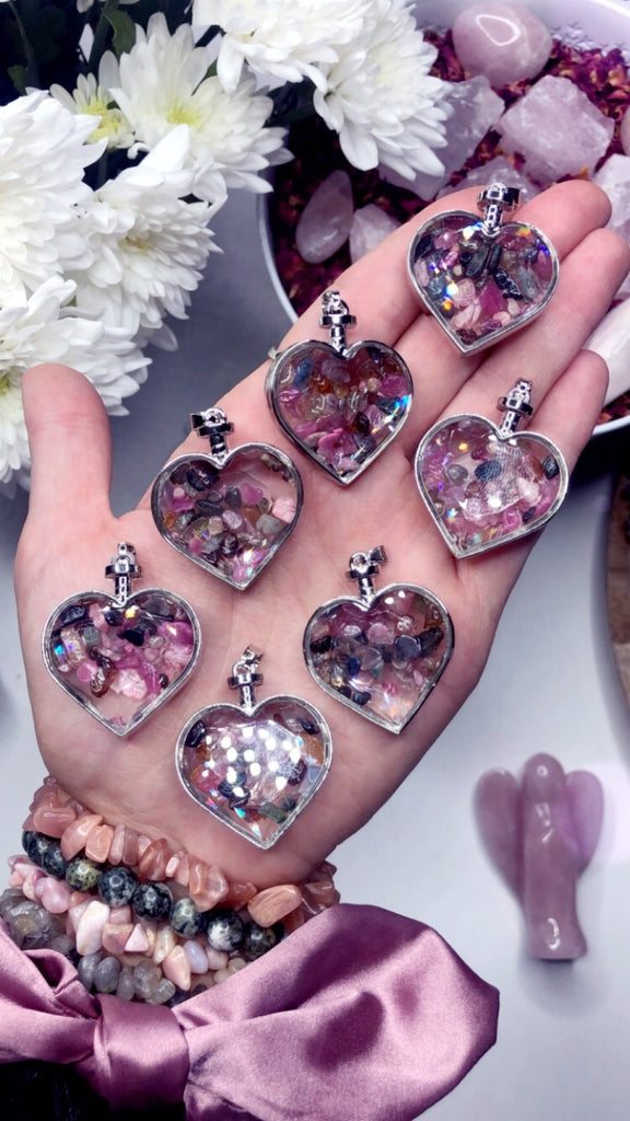 Watermelon Tourmaline Heart Pendants 🍉💞