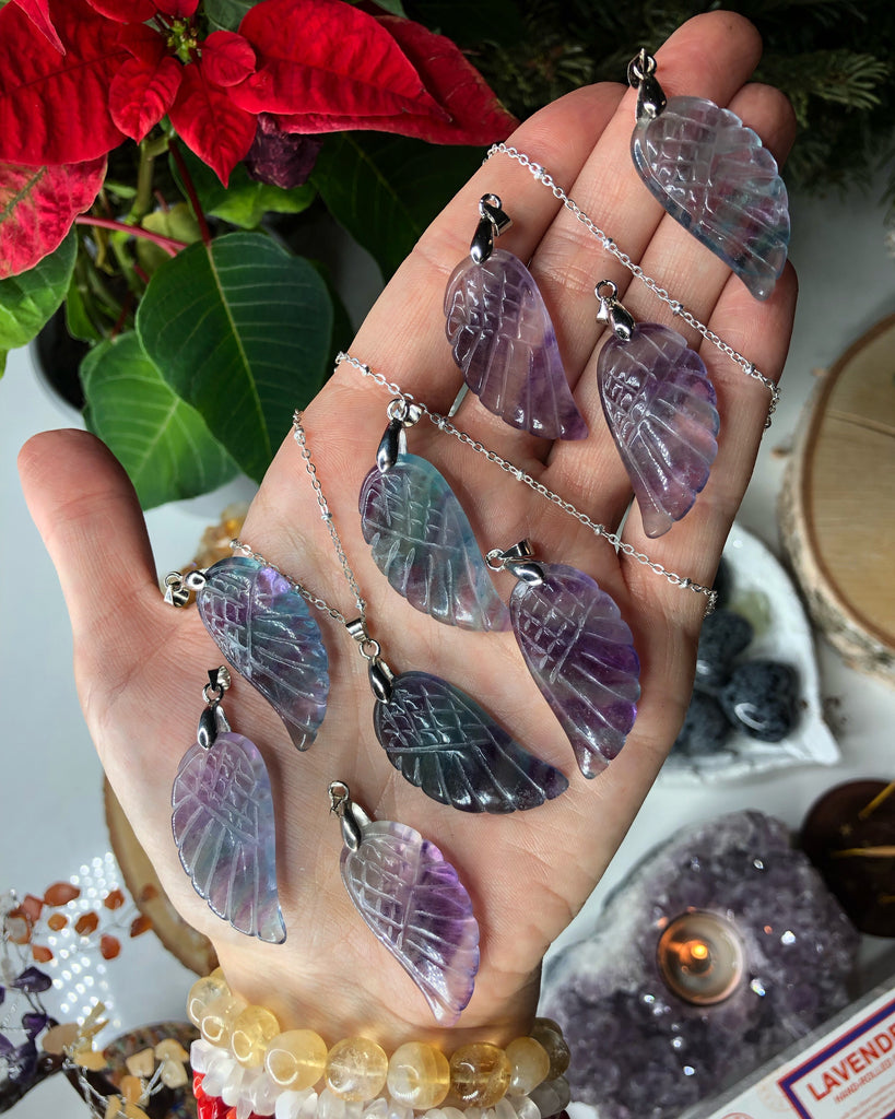 Fluorite Angel Wing Pendants 👼🏼🔮💕💎