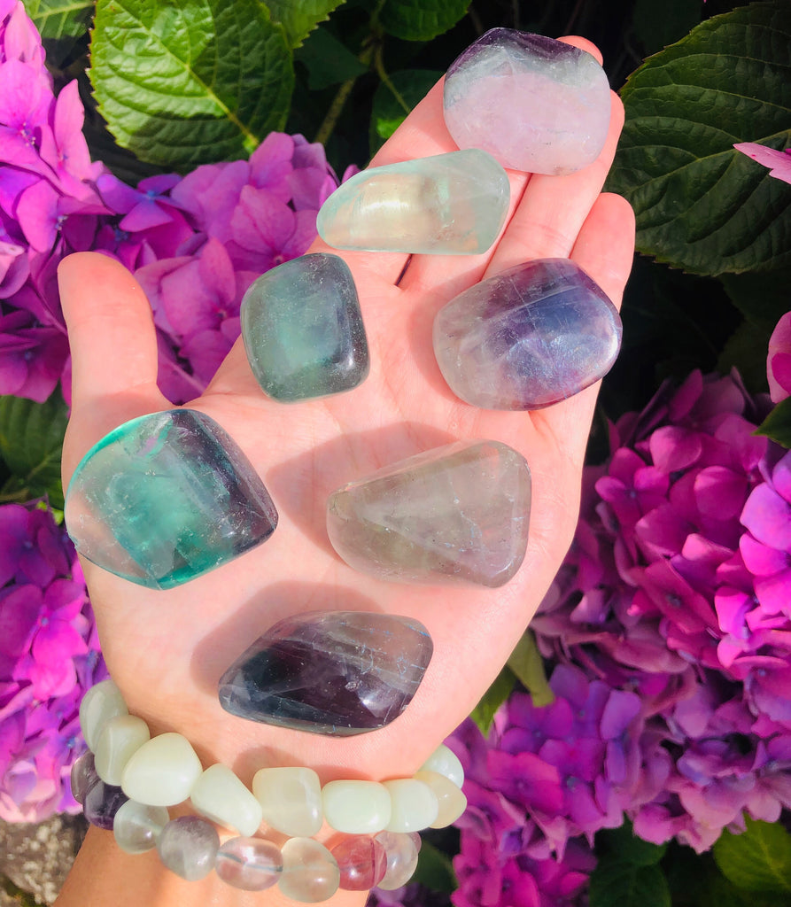 Large Rainbow Fluorite Crystals 🌈💜💚
