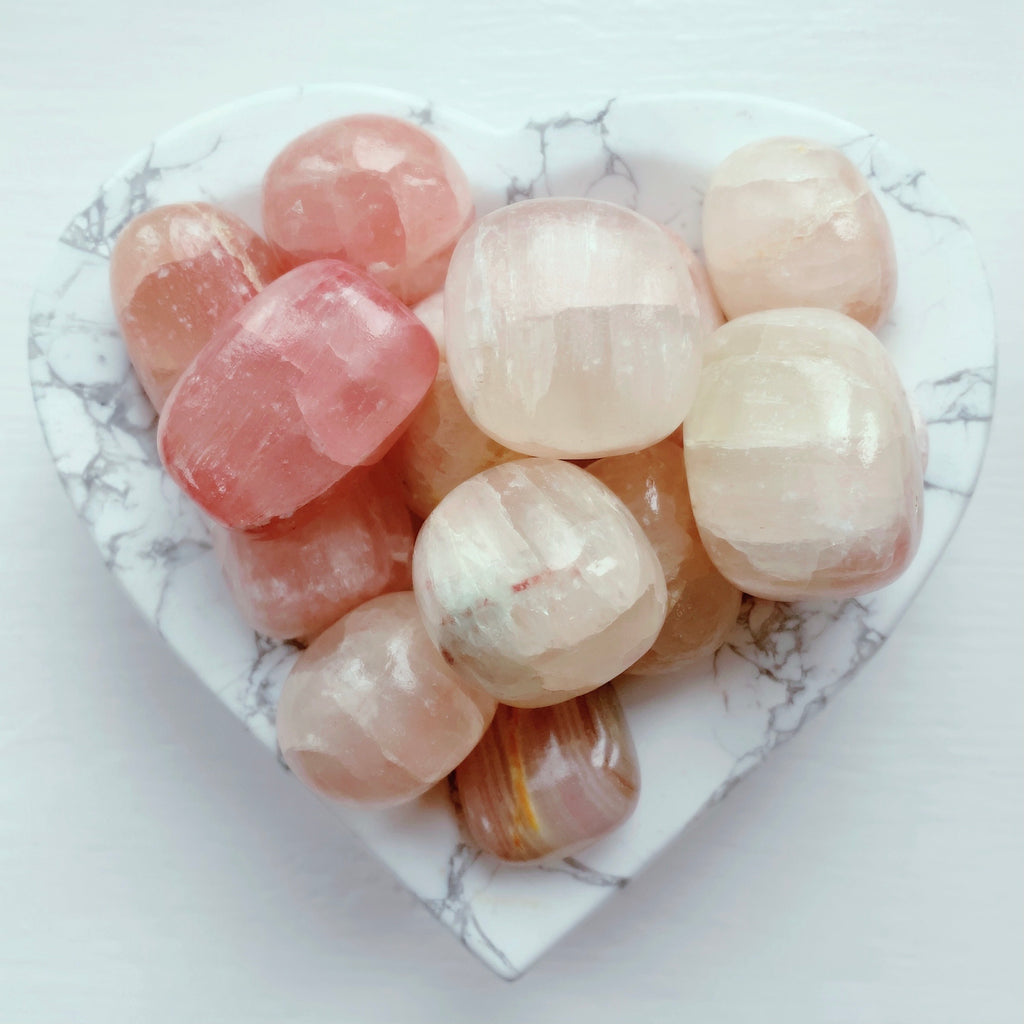 NEW Strawberry 🍓Calcite Tumbles 💖🍓❤️