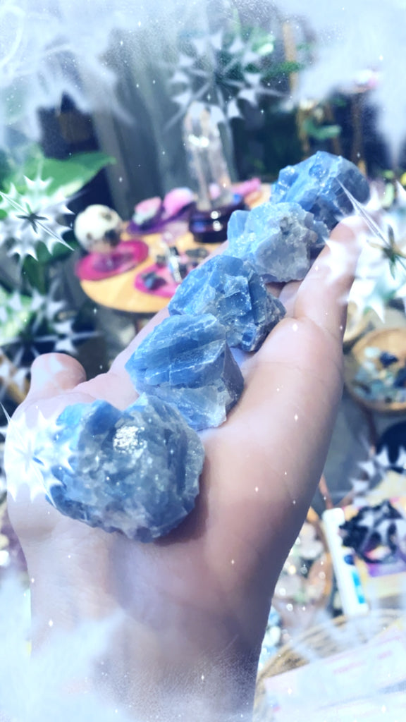 Blue Calcite Natural Specimens 💎