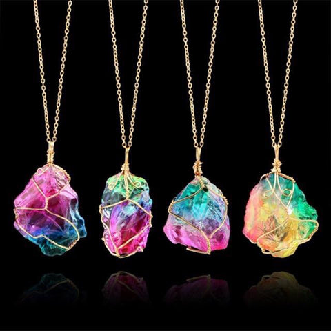 Rainbow Quartz Pendants 🌈💕🌈