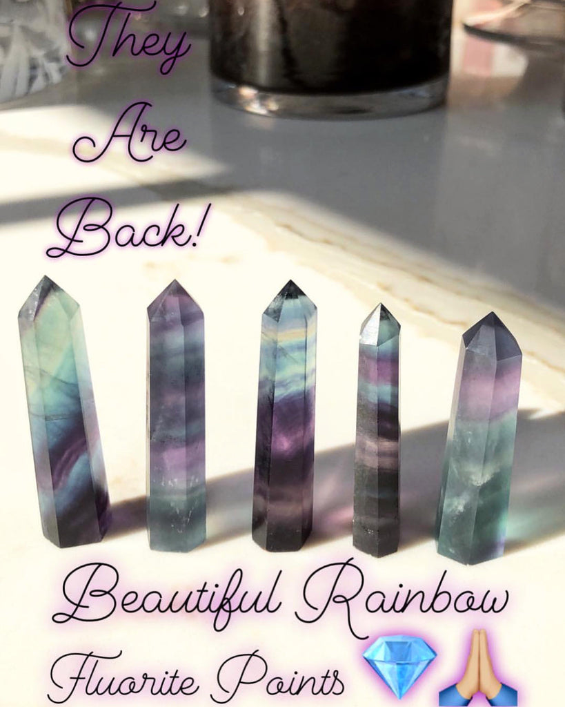 Rainbow Fluorite Energy Towers 💎🌈✨💞