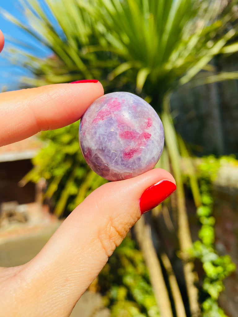 Pink Tourmaline with Lepidolite Stress Balls 🤩💓💕💓