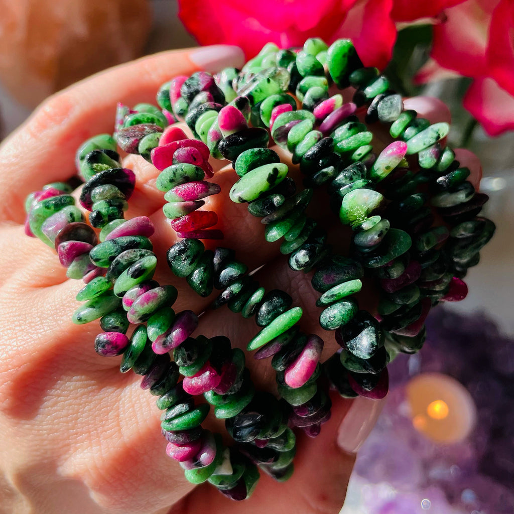 Ruby In Zoisite Bracelets ❤️💚 Passion & Patience ❤️🙌🏽🔥