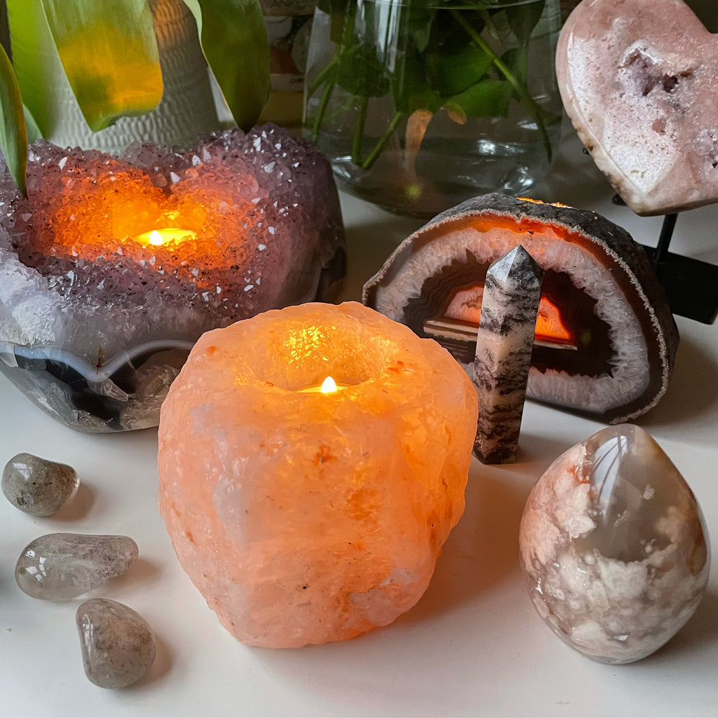 Himalayan Natural Salt Lamps 💟🕯