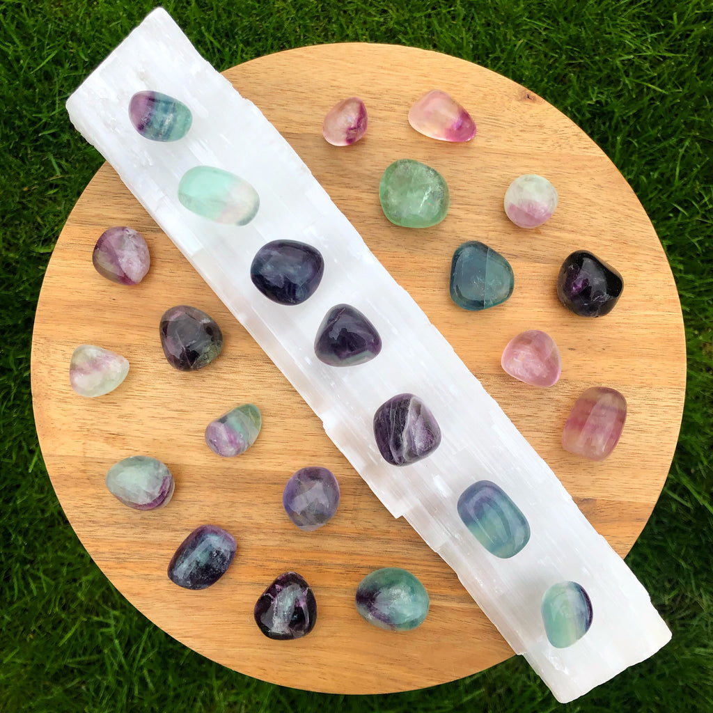 💚💜Fluorite Tumbled Crystals 💚💜