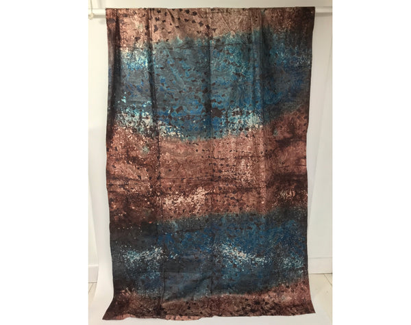 African Hand Dyed Batik Damask Storm by Grace Adover