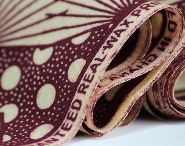 African Wax Print Cotton - Wine Petals