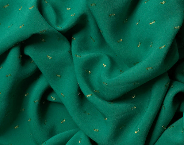 Plumetis Viscose Green by France Duval Stalla